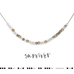 Morse Code - Survivor - Necklace